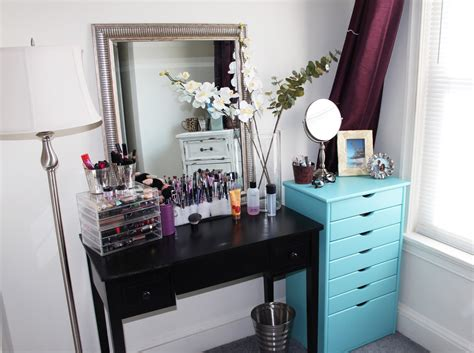 room tour small bedroom storage ideas and organizing for makeup by alli new makeup storage organization room tour