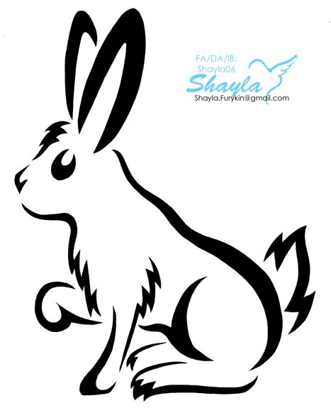rabbit tribal tattoo designs tribal rabbit by shayla06 on deviantart