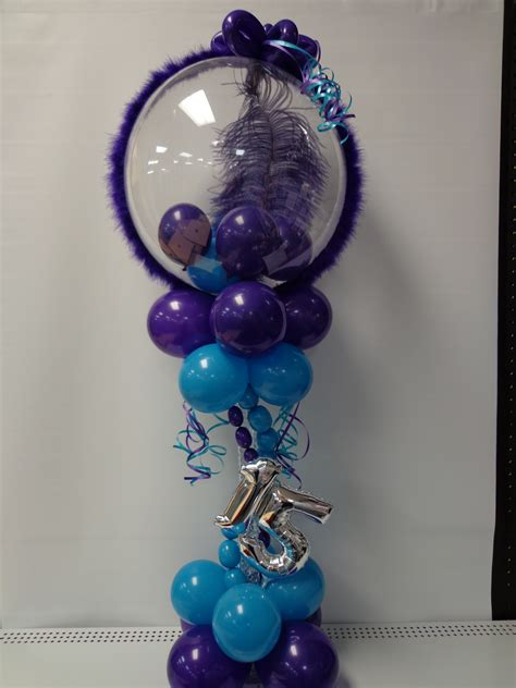 Quinceaneras Centerpieces Balloon Centerpiece With Quinceanera Sweet 16 Balloons At It S My