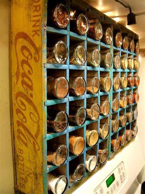 diy crate spice rack ways to repurpose wood crates rustic crafts chic decor