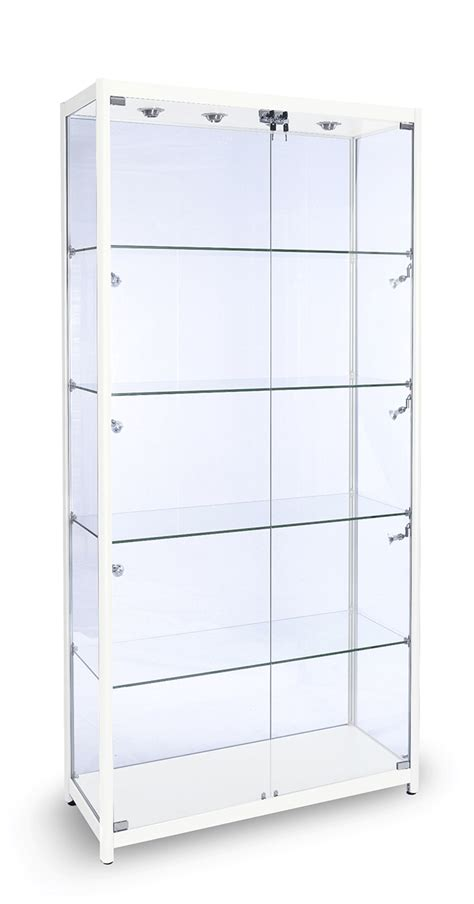 1000mm aluminium glass display cabinet glass