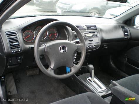 black interior 2003 honda civic lx coupe photo 49347801