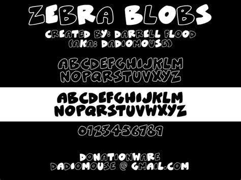 dafont zebra zebra blobs font dafont com