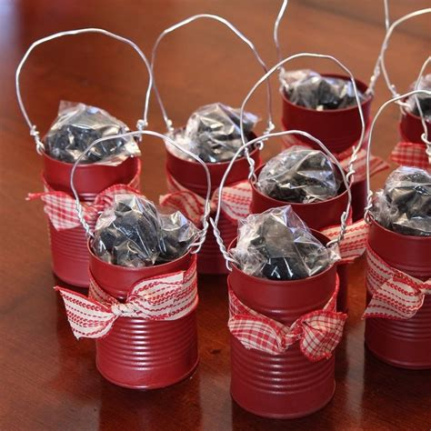 Napkin Tissue Decoupage 235 gift idea reused soup cans to stuff