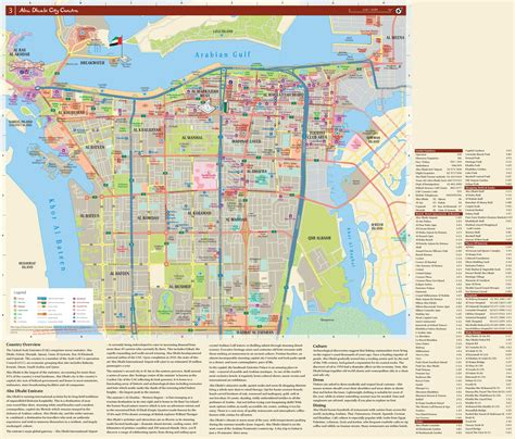 map of abu dhabi abu dhabi hotels and sightseeings map