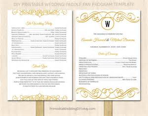 fan program template printable wedding program fan by yourweddingtemplates on etsy