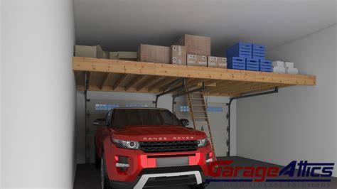 Garage Storage Loft Solutions   Custom Overhead Garage