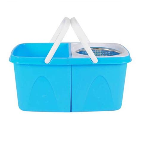 Split Bucket 360 Rotating Magic Spin Mop with 2 Mop Heads