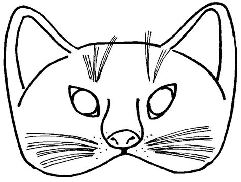 cat mask coloring coloring pages