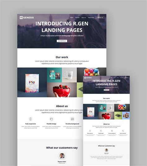 18 Best Responsive Html5 Landing Page Templates 2018 Landing Page Sle Templates
