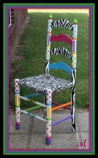 turquoise trinkets custom painted chair