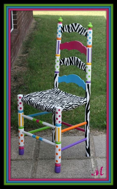 painted armchair turquoise trinkets custom hand painted chair