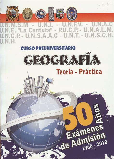 preguntas de geografia pre san marcos geografia
