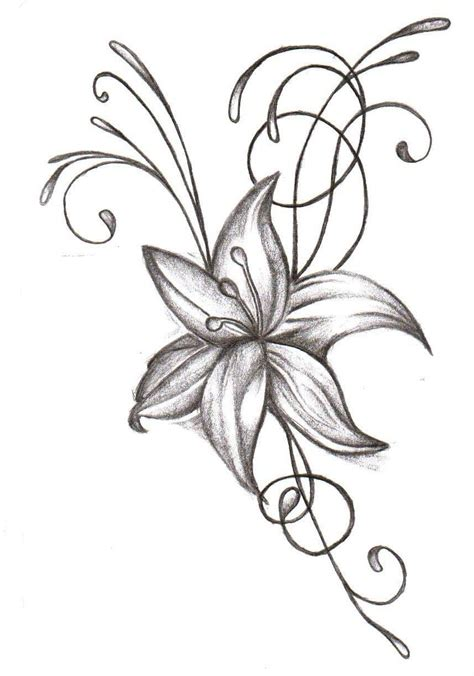 design flower pencil design flowers pencil drawing art pencil sketch of flower