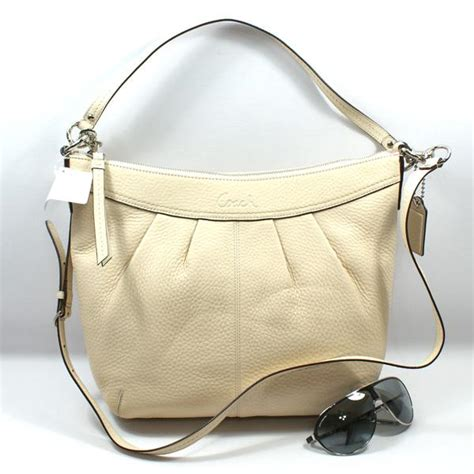 coach swing coach soho pleated pebble leather swing shoulder bag