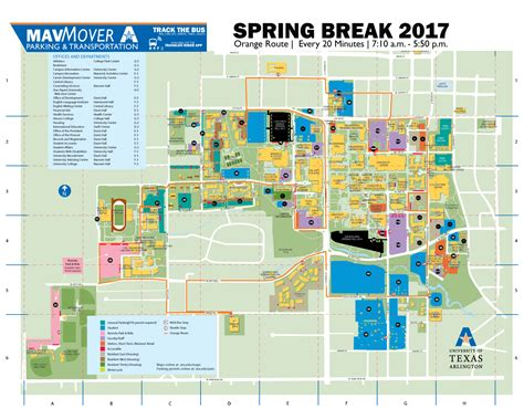 university of texas at arlington map 2017 route parking and transportation services the university of texas at