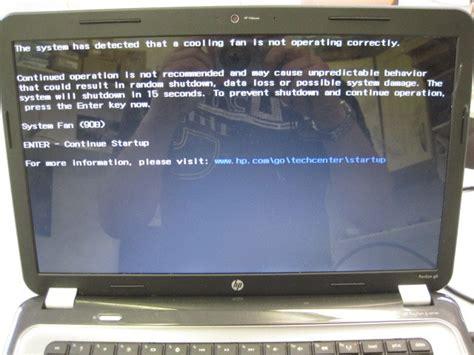 hp laptop fan not working how to fix system fan 90b error on a hp pavilion g6