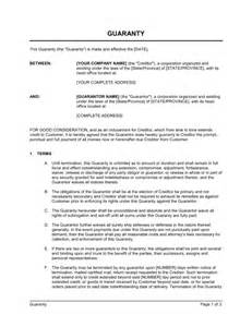 Sle Letter Of Continuing Guarantee Guaranty Template Sle Form Biztree