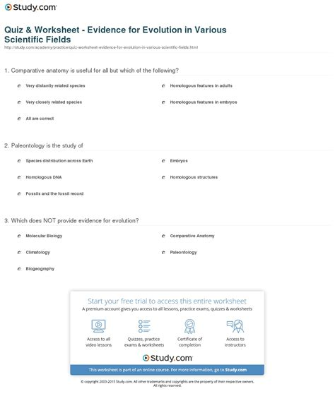 pattern quiz for adults worksheets evidence of evolution worksheet answers