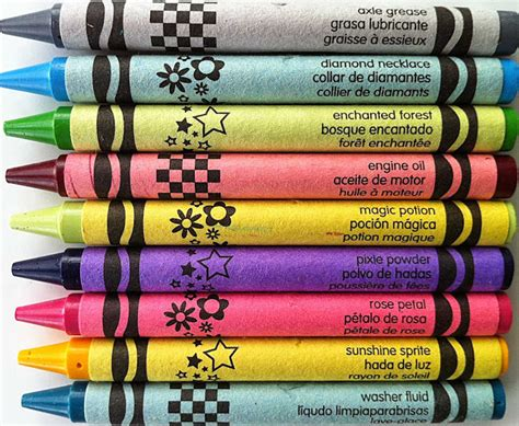 crayola color names the crayon and not a visual look at