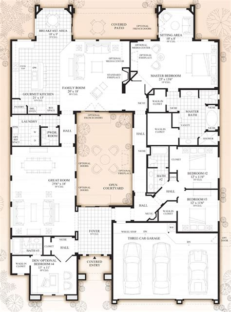 arizona house plans savino at windgate ranch scottsdale desert willow