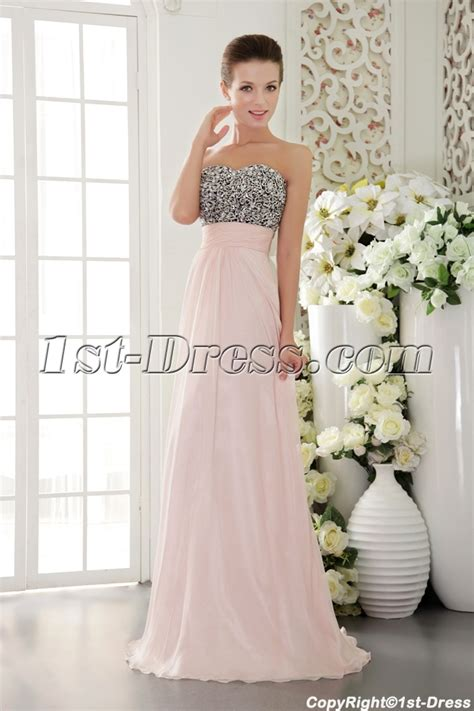 Light Pink with Black Exclusive Pretty Prom Dresses for Sale IMG9524:1st dress.com