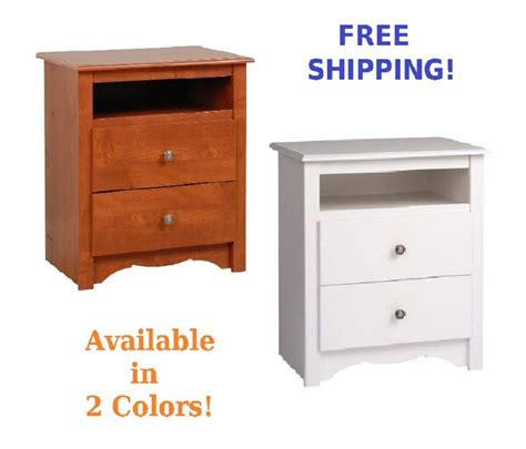 Bedroom End Tables With Drawers by Wood Stand Nightstand Side End Table 2 Drawer