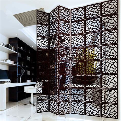 carving room entranceway compartmentation hanging wooden carved cutout carving room divider partition wall