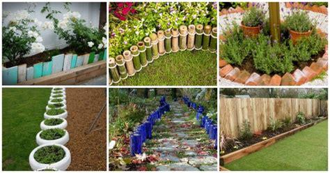 Diy Garden Edging Ideas Diy Garden Edging Designs Archives My Amazing Things