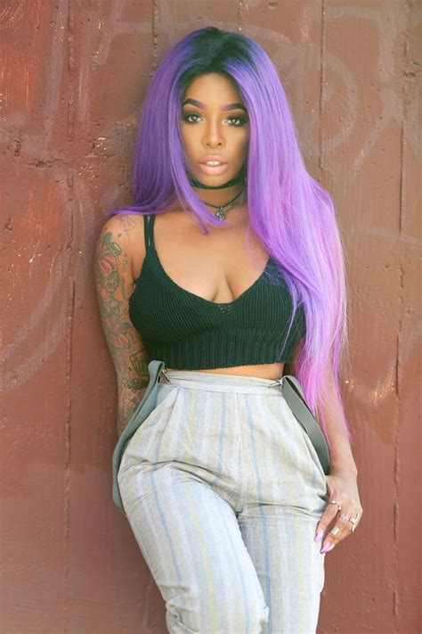 black women with purple colour in their hair 298 best different shades of ebony hair images on