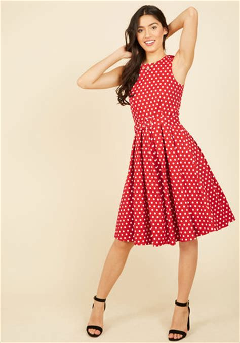 Dress Stop Dc polka dot dresses retro style from 1920s to 1960s