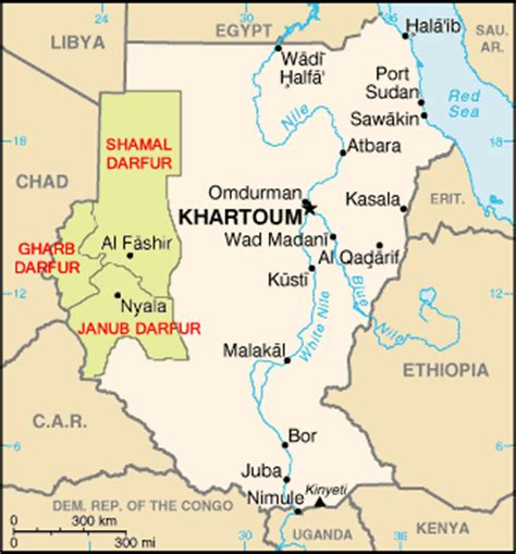 political map of darfur in sudan | origins: current events