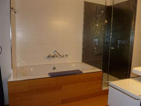 ended bath with shower ended bath and spacious shower picture of bohem hotel budapest tripadvisor