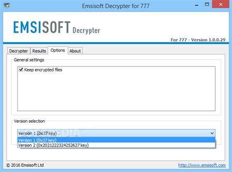 Cctv It Pro 777 emsisoft decrypter for 777