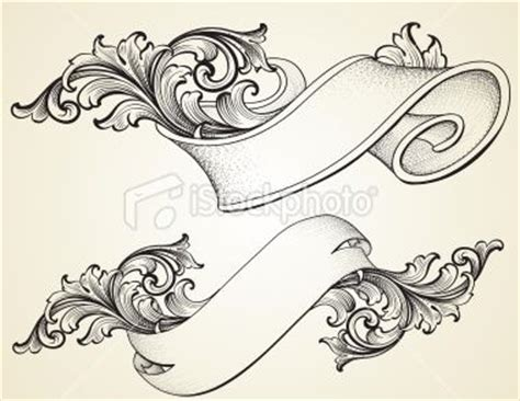 tattoo flash banners scroll banner curled scroll banners royalty free stock