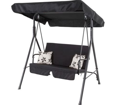 swing chair argos buy home 2 seater garden swing chair black at argos co