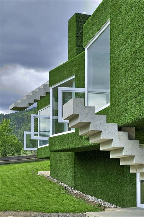 green homes designs green facade house in austria