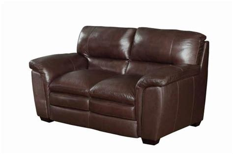 brown loveseats coaster burton 503972 brown leather loveseat steal a