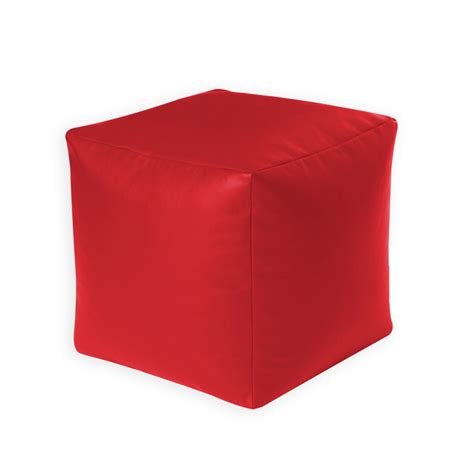 Diy Cube Chair by Beanbag Cube Faux Leather Pouffe Seat Foot Stool Rest