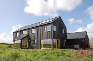metal barn homes single color house with color popping windows black zinc
