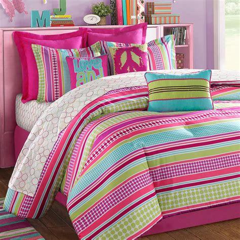 bed comforters for teenage girls girls comforters and bedspreads stipple teen bedding pink aqua lime purple bedding