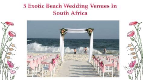 5 exotic beach wedding venues in south africa