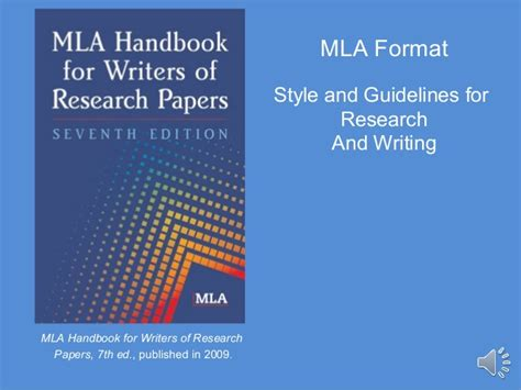 mla handbook for writers of research papers 7th edition pdf mla format fye