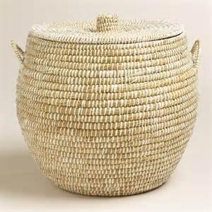 Wicker Basket Large Round With Handle Ebay » Ideas Home Design
