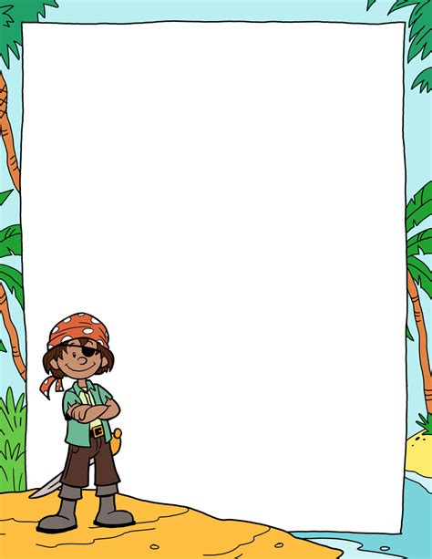 pirate paper template 01 tim s printables
