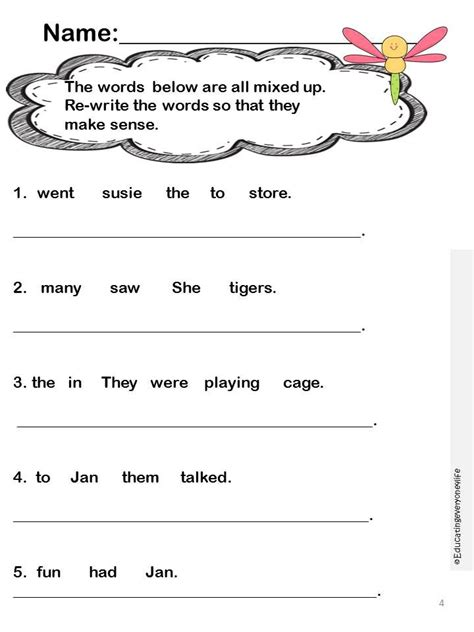 Second Grade Language Arts Worksheets by Language Arts Activities Language Arts General
