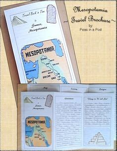 mesopotamia ancient civilizations travel brochure