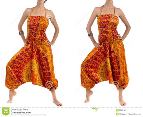 Multi color harem pants with indian pattern stock image image 37121419