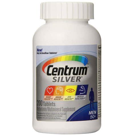 Vitamin Centrum centrum silver s 50 multivitamin 200 tablets evitamins uk