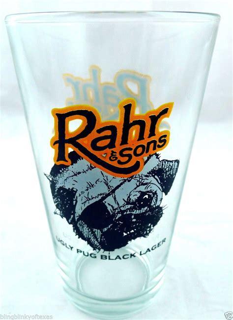 rahr pug rahr sons brewing company pug black lager shaker pint gla